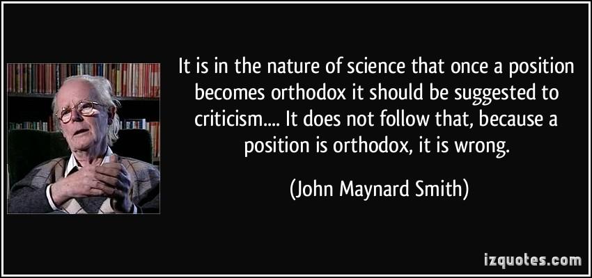 John Maynard Smith's quote #2