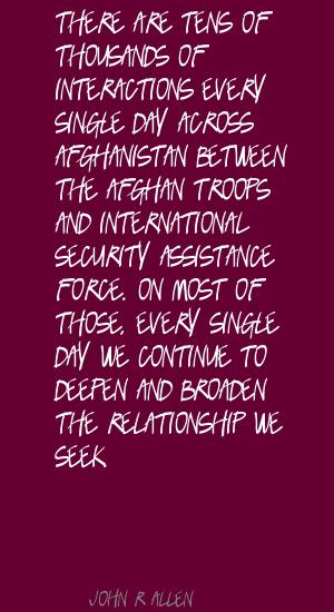 John R. Allen's quote #4
