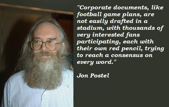 Jon Postel's quote #1