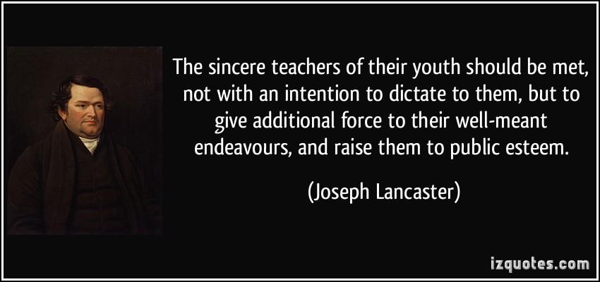 Joseph Lancaster's quote #5