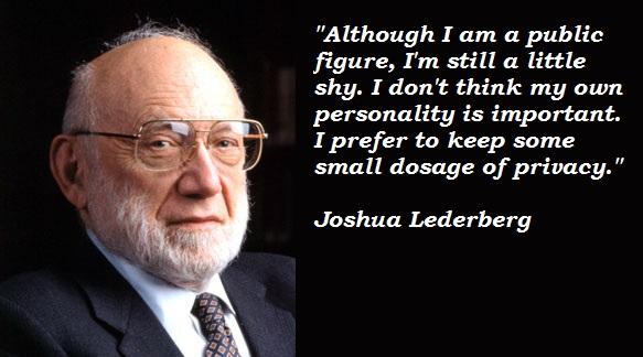 Joshua Lederberg's quote #1