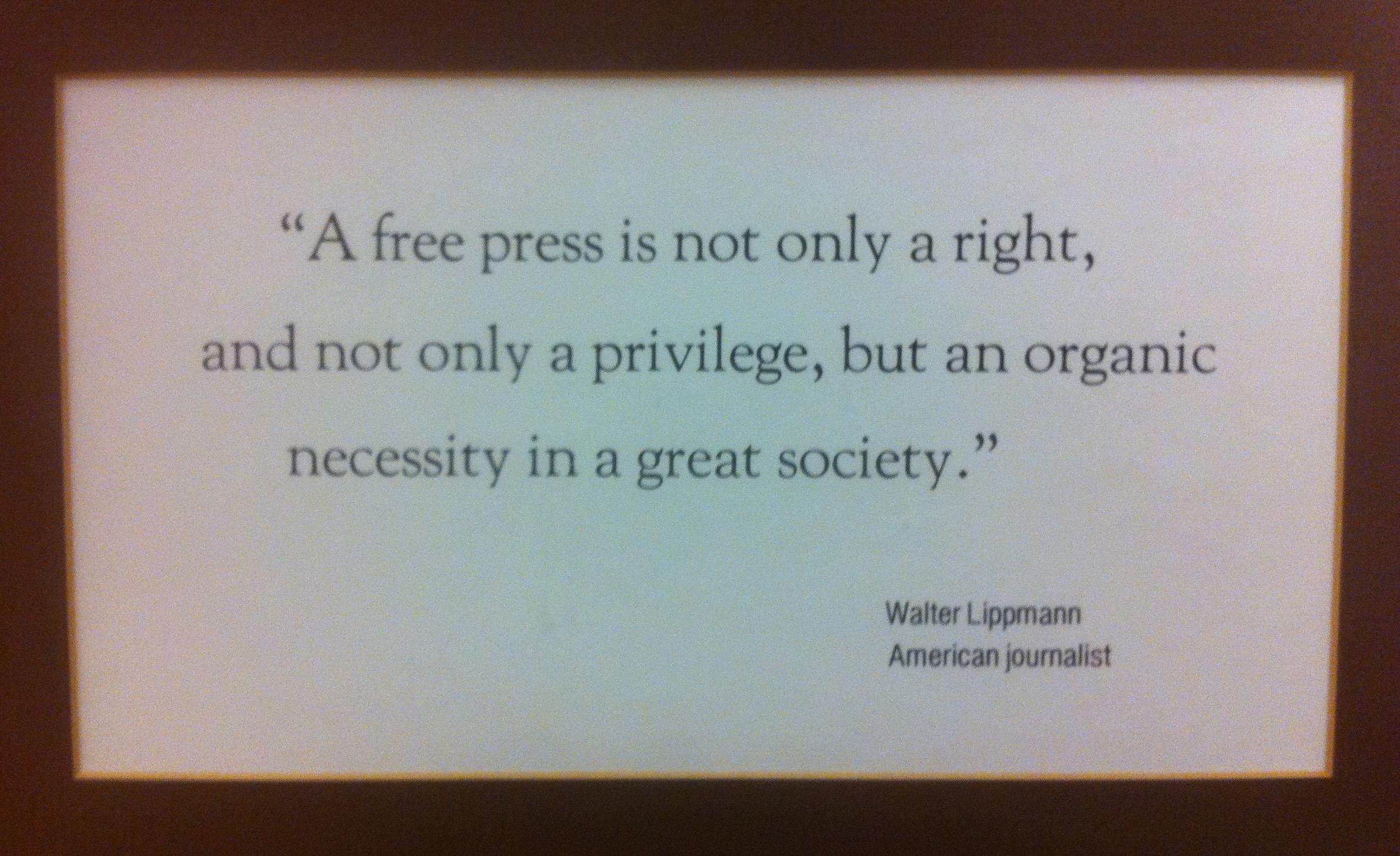Journalist quote #1