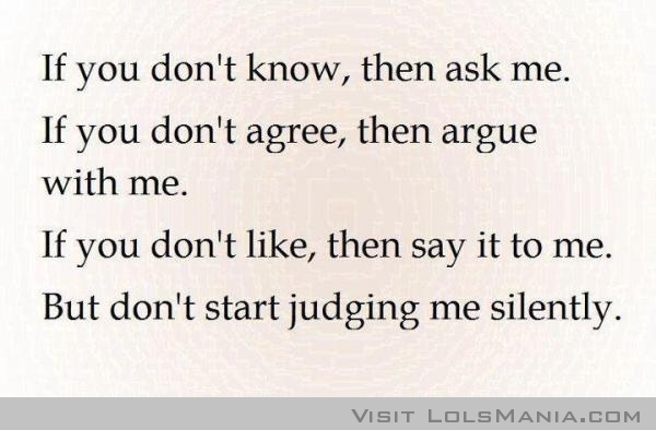 Judgements quote #1