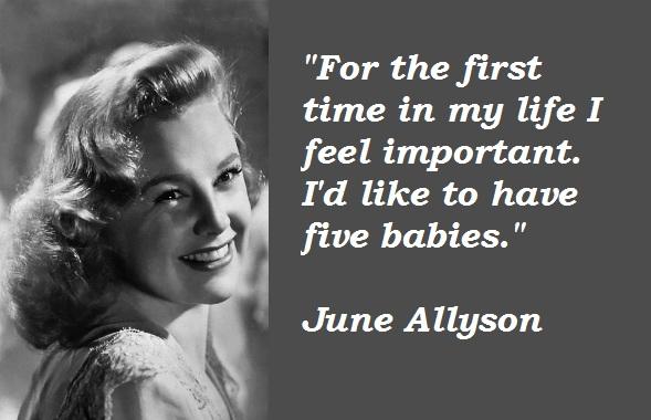 June Allyson's quote #1