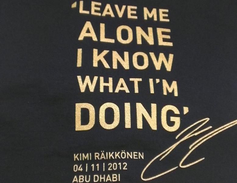 Kimi Raikkonen's quote