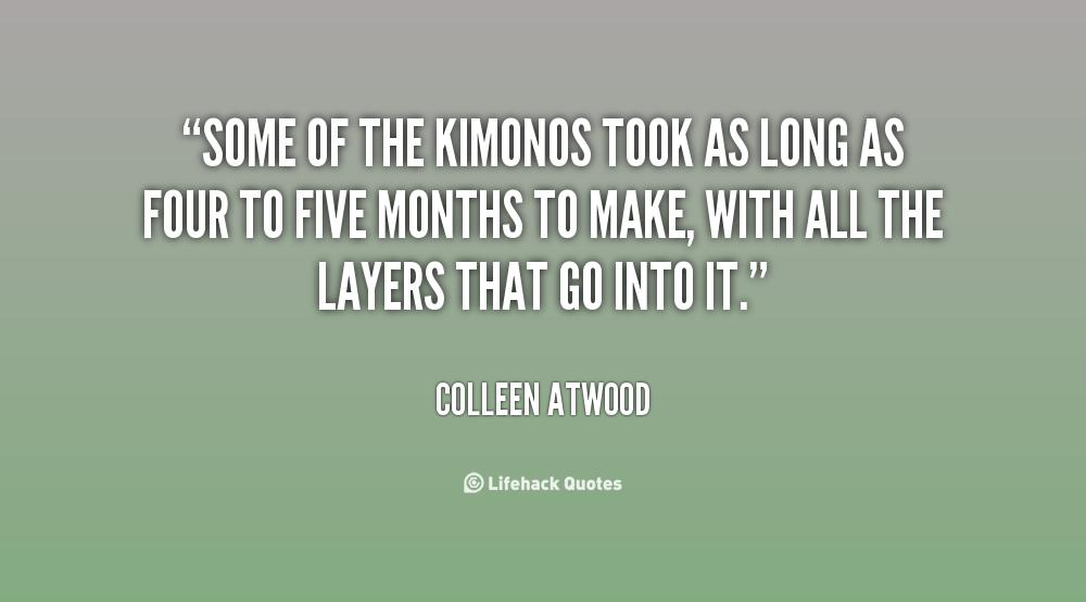 Kimonos quote