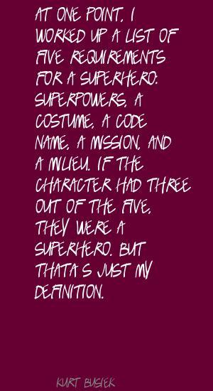 Kurt Busiek's quote #2