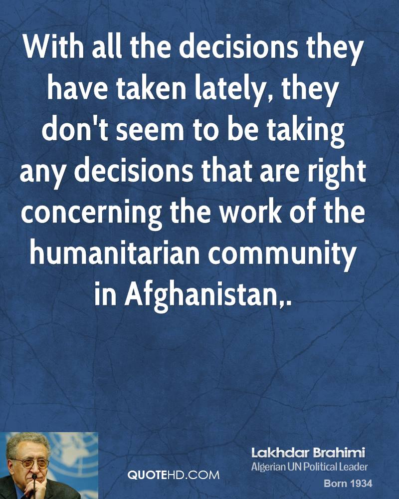 Lakhdar Brahimi's quote #1