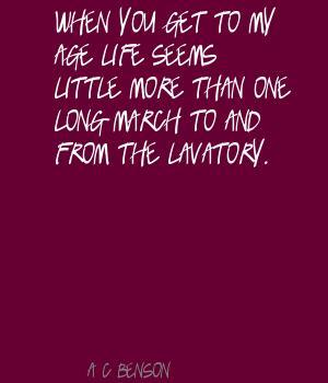 Lavatory quote #1