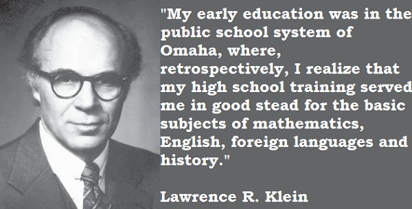 Lawrence R. Klein's quote #4