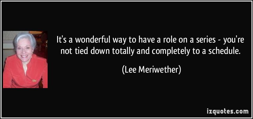 Lee Meriwether's quote #1