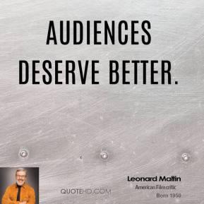 Leonard Maltin's quote #4