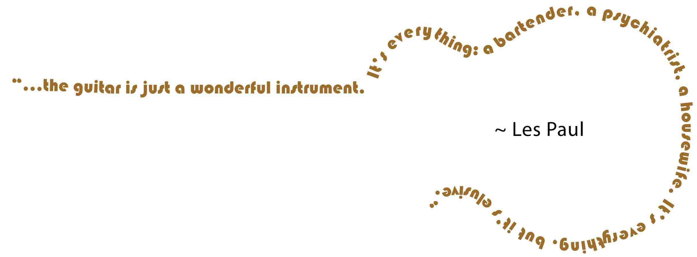 Les Paul's quote #1
