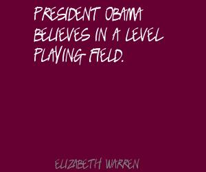 Level Playing Field quote #2