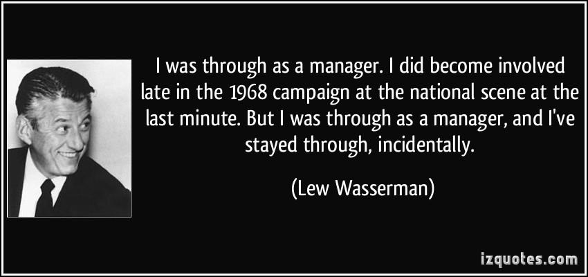 Lew Wasserman's quote #2