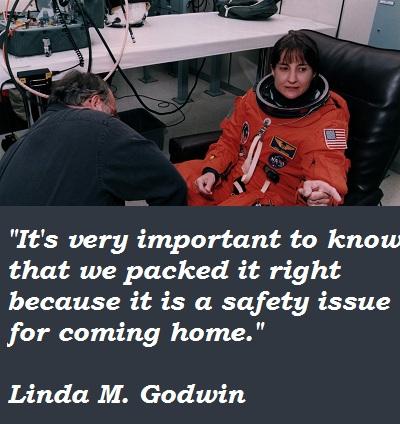Linda M. Godwin's quote #3