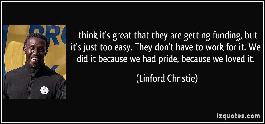 Linford Christie's quote #3
