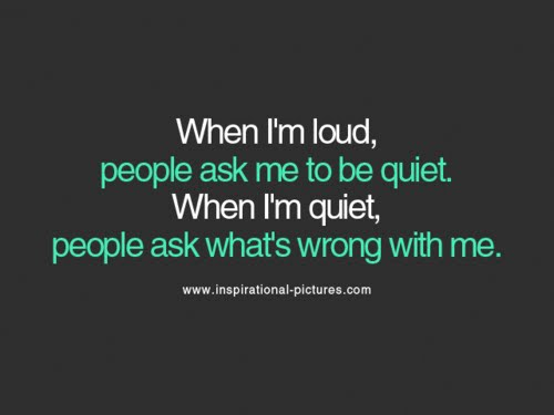 Loud quote