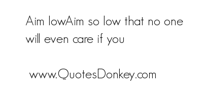 Low Aim quote #2