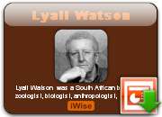 Lyall Watson's quote #5