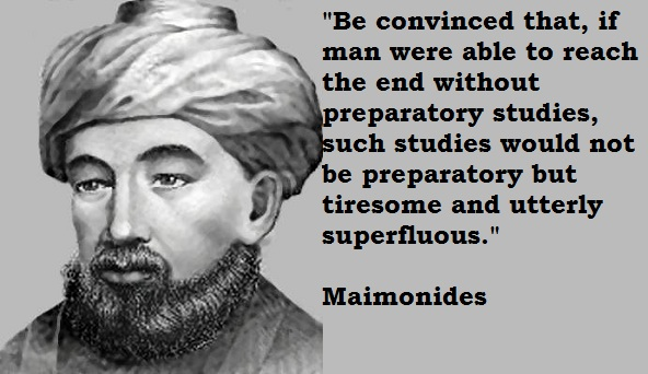 Maimonides's quote #1