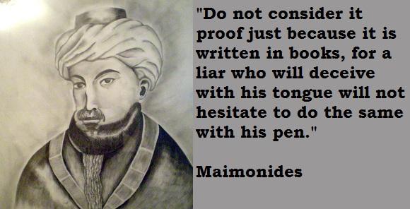 Maimonides's quote #2