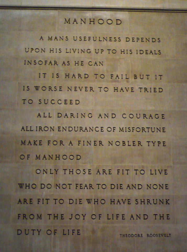 Manhood quote #1