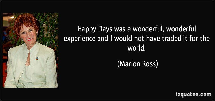 Marion Ross's quote #1