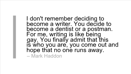 Mark Haddon's quote