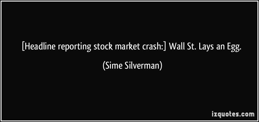 Market Crash quote #1