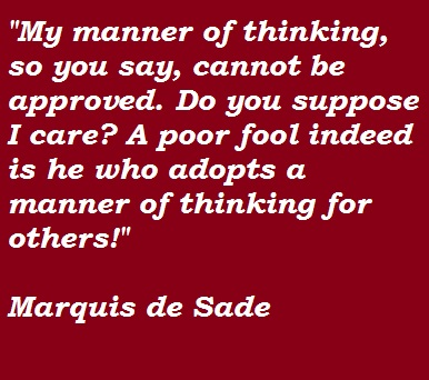 Marquis de Sade's quote #2