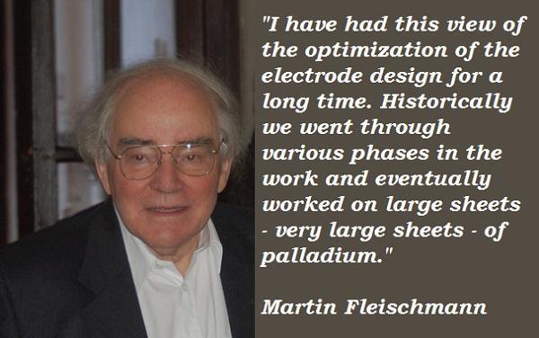 Martin Fleischmann's quote #7