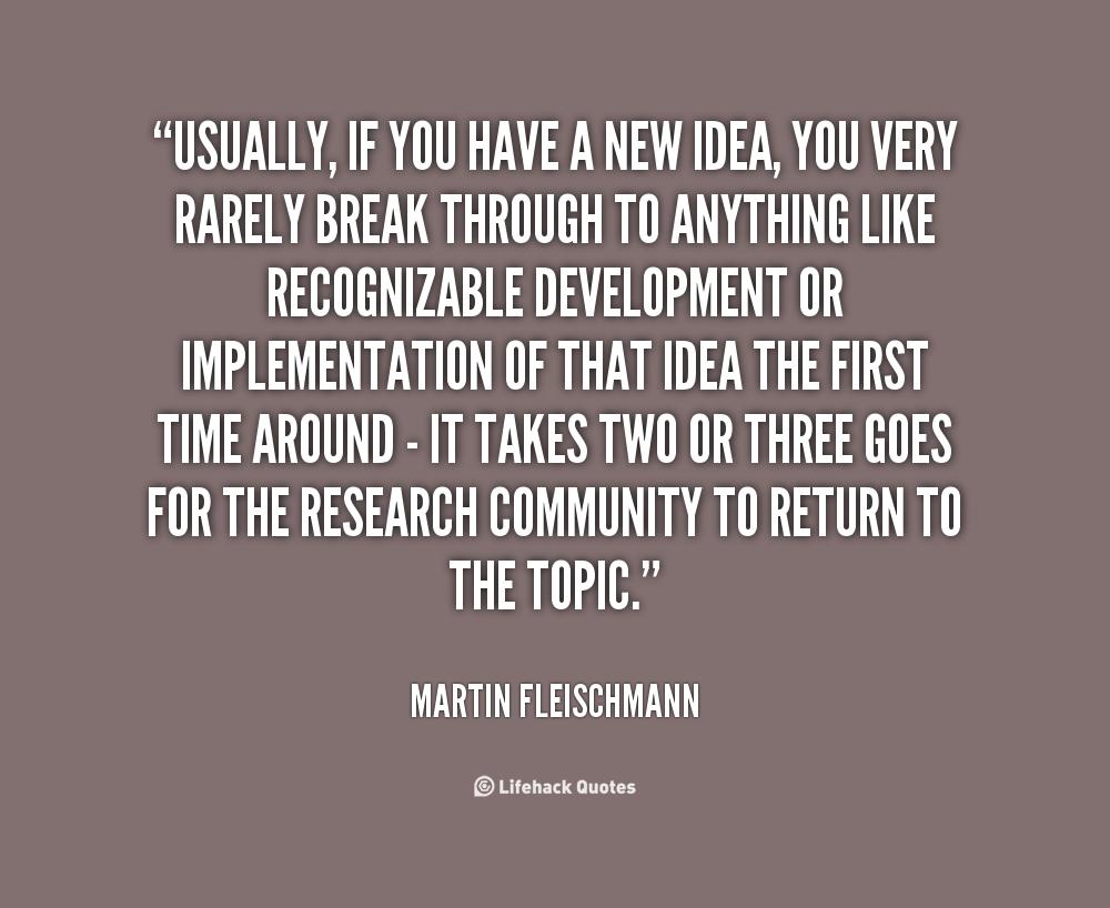 Martin Fleischmann's quote #2