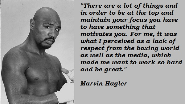 Marvin Hagler's quote #4