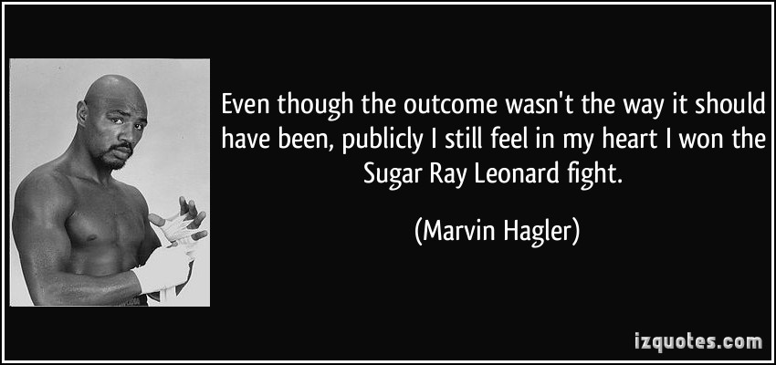Marvin Hagler's quote #3