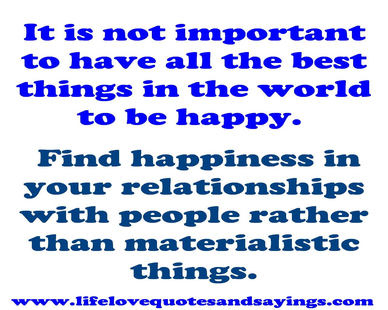 Materialistic quote #1