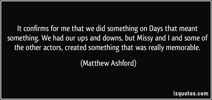 Matthew Ashford's quote #2