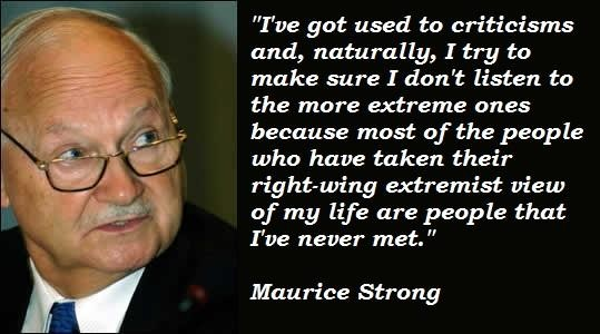 Maurice Strong's quote #4
