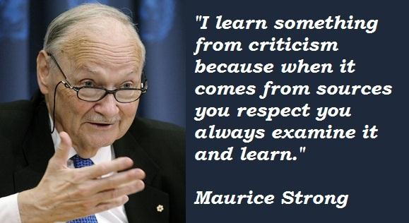 Maurice Strong's quote #5