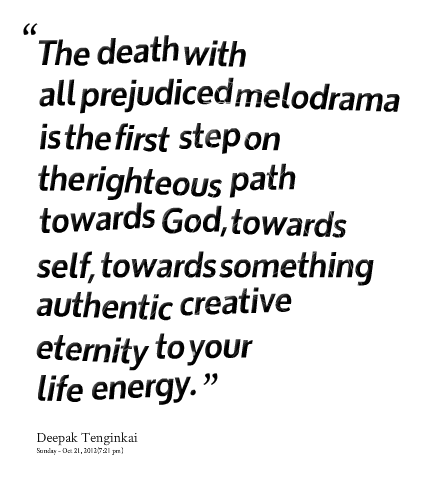 Melodrama quote #1