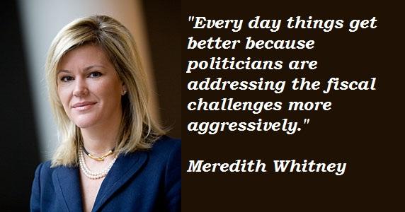 Meredith Whitney's quote #3