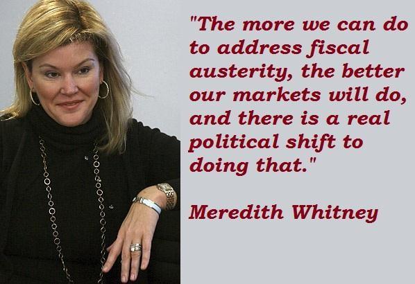 Meredith Whitney's quote #4