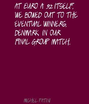 Michel Patini's quote #1