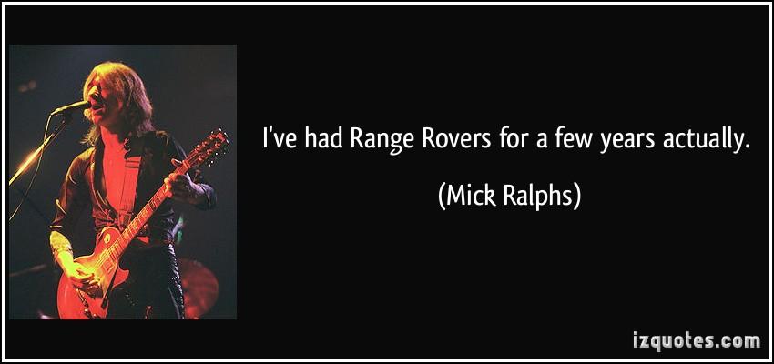 Mick Ralphs's quote #4
