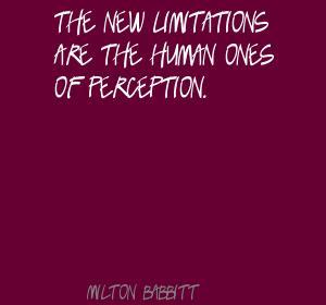 Milton Babbitt's quote
