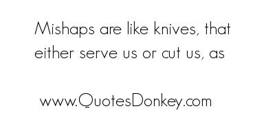 Mishaps quote #1