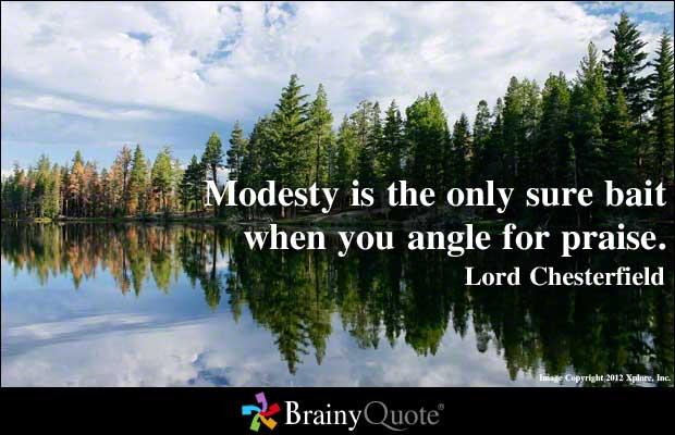 Modest quote #1