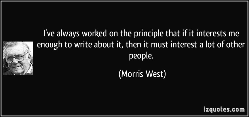 Morris West's quote #1
