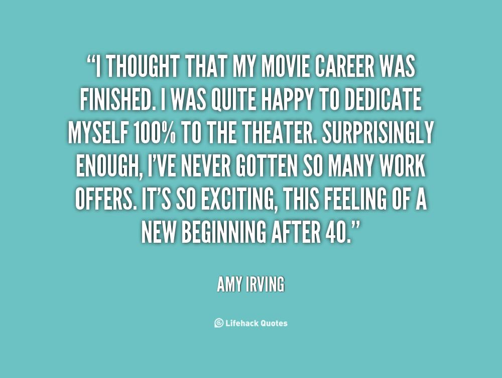 Movie Career quote #1