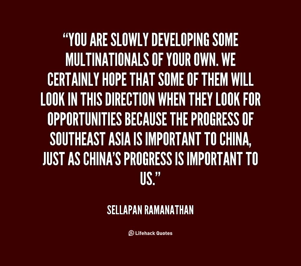 Multinationals quote #1